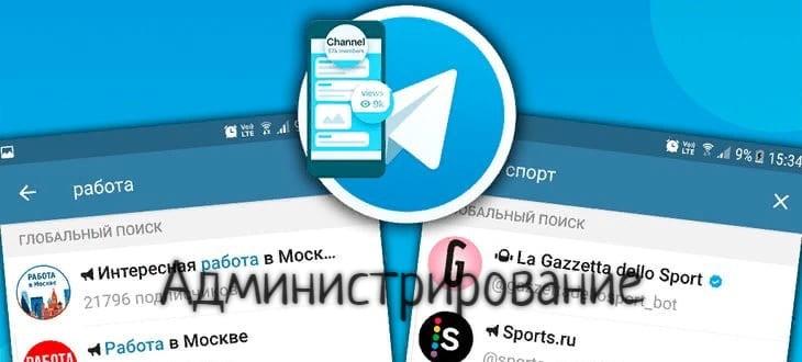 Администрирование Телеграм-каналов