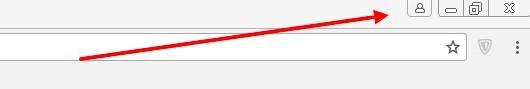 Иконка в браузере Google Chrome для входа пользователя в аккаунт.