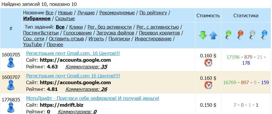 Задание на создание аккаунта гугл