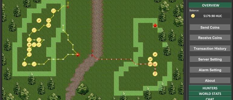 Блокчейн-игр Huntercoin